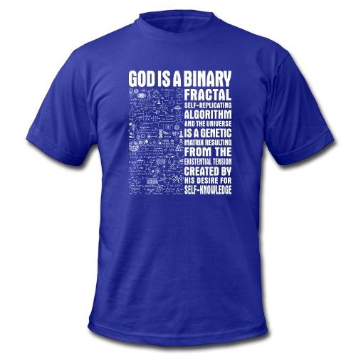 God is a binary, fractal, self-replicating - Men's  Jersey T-Shirt