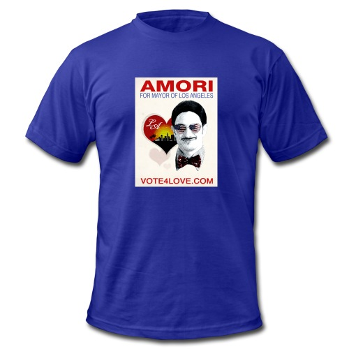 Amori for Mayor of Los Angeles eco friendly shirt - Men's Fine Jersey T-Shirt