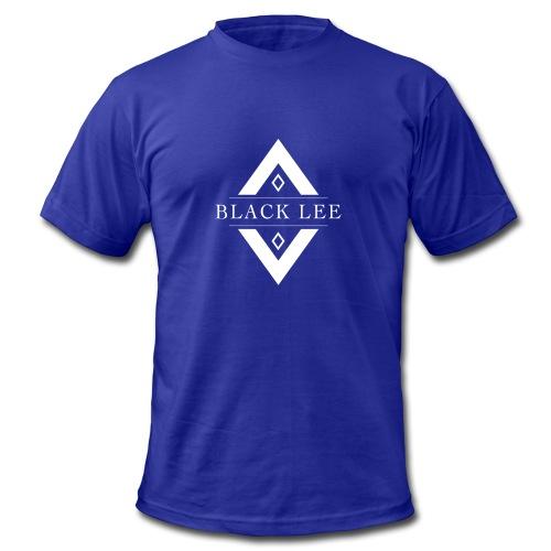 Black Lee Transparent Logo White T SHIRT - Men's Fine Jersey T-Shirt