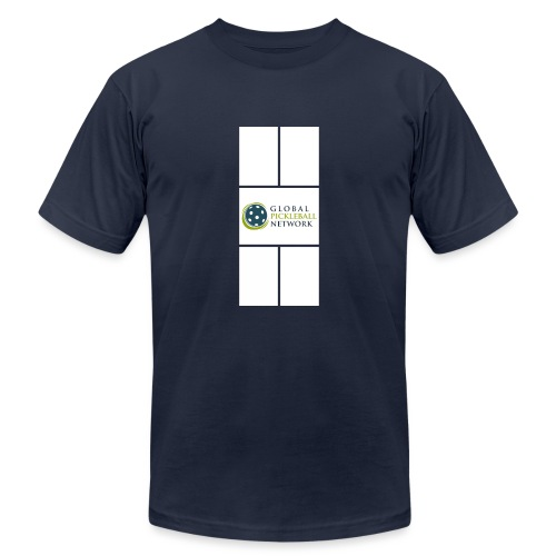 Global Pickleball Network Logo on White Court - Unisex Jersey T-Shirt by Bella + Canvas