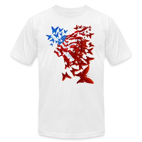 The Butterfly Flag - Unisex Jersey T-Shirt by Bella + Canvas