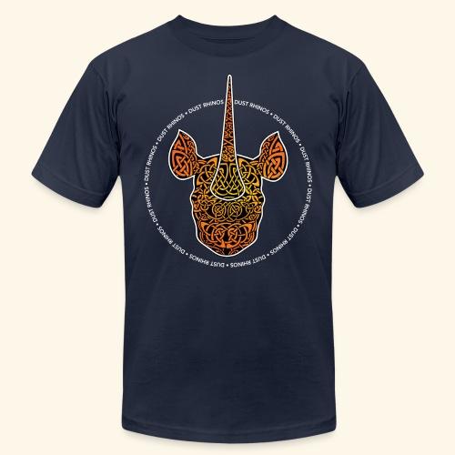 Dust Rhinos Orange Knotwork - Unisex Jersey T-Shirt by Bella + Canvas