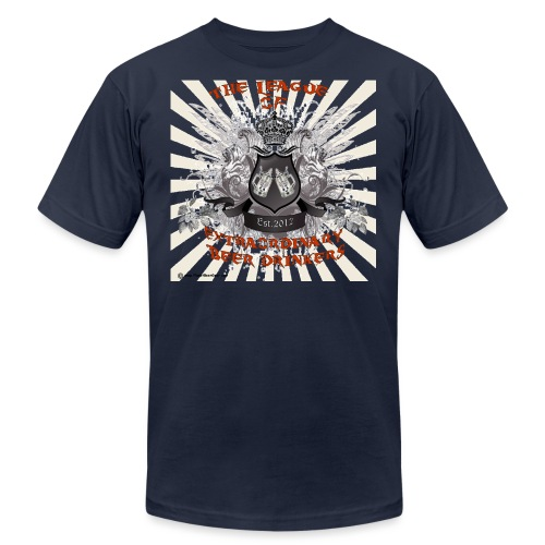 The League of Extraordinary Beer Drinkers Crest Wo - Unisex Jersey T-Shirt by Bella + Canvas