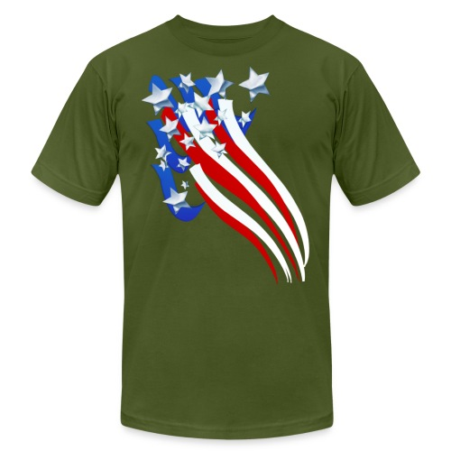 Sweeping Old Glory - Unisex Jersey T-Shirt by Bella + Canvas
