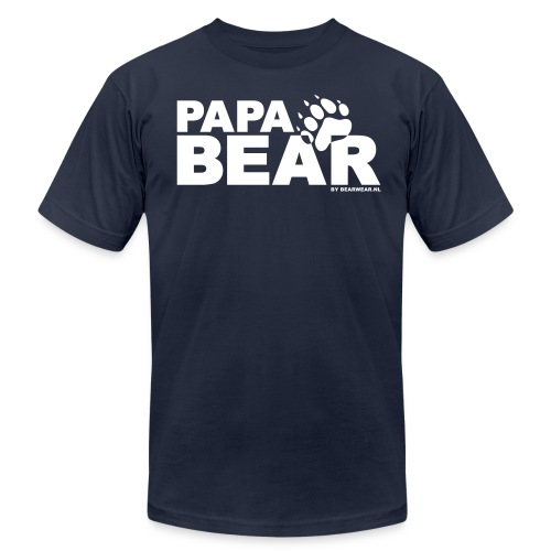papa bear new - Unisex Jersey T-Shirt by Bella + Canvas