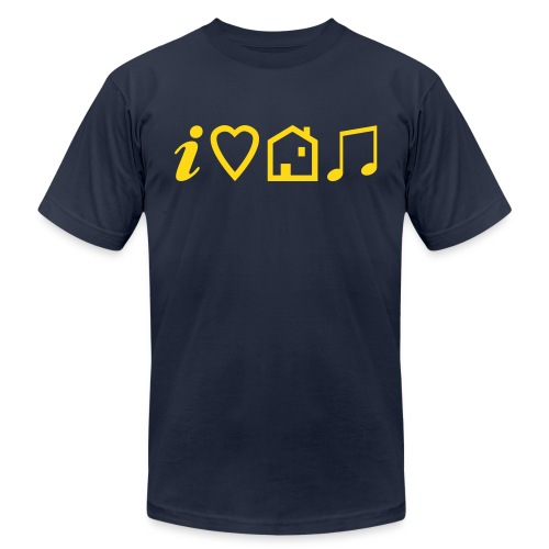 I Heart House Music - Symbolic Design 1 - Unisex Jersey T-Shirt by Bella + Canvas