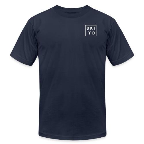 Ukiyo Logo White - Unisex Jersey T-Shirt by Bella + Canvas