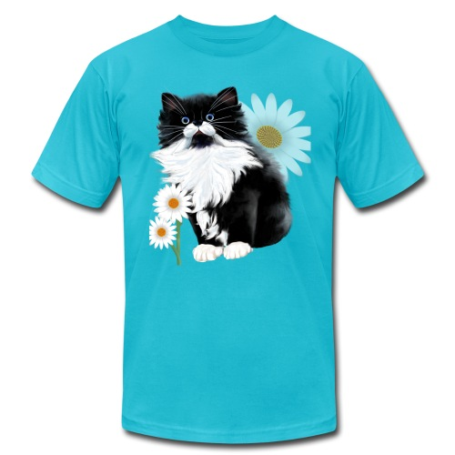 Little Tux Kitten-Daisy - Unisex Jersey T-Shirt by Bella + Canvas