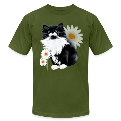 Little Tux Kitten-Daisy - Unisex Jersey T-Shirt by Bella + Canvas