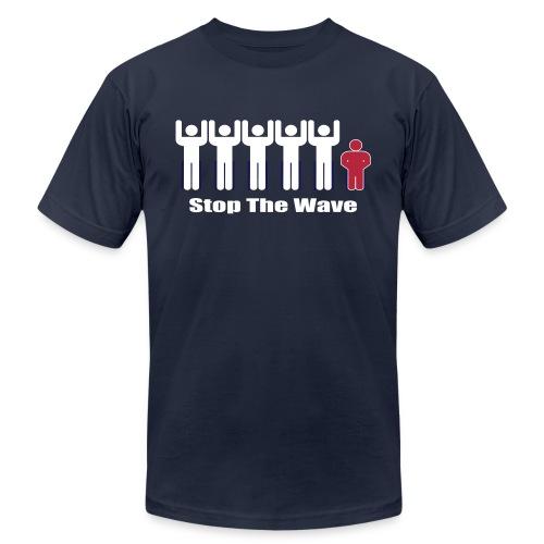 Men's Stop The Wave Logo T-Shirt - Unisex Jersey T-Shirt by Bella + Canvas