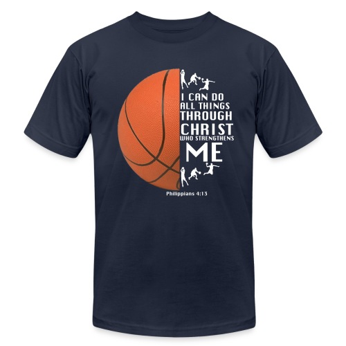 Philippians 4:13 - Basketball - Unisex Jersey T-Shirt by Bella + Canvas