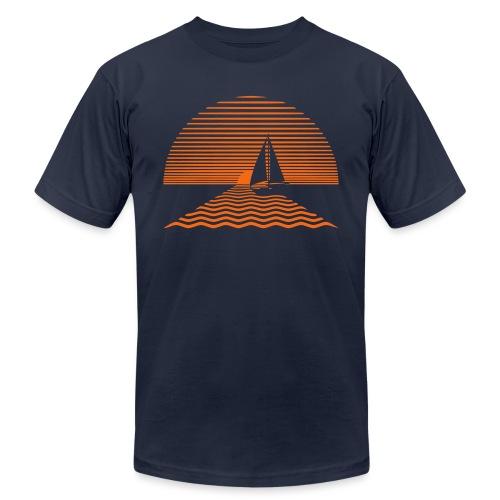 Sunset Sailboat - Unisex Jersey T-Shirt by Bella + Canvas