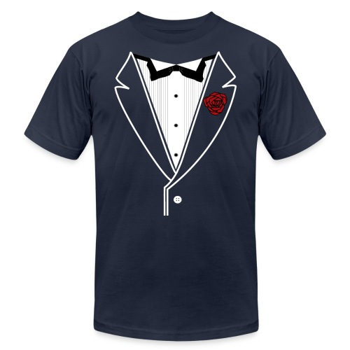 Tuxedo w/White Lapel - Unisex Jersey T-Shirt by Bella + Canvas