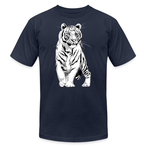 Stately White Tiger - Unisex Jersey T-Shirt by Bella + Canvas