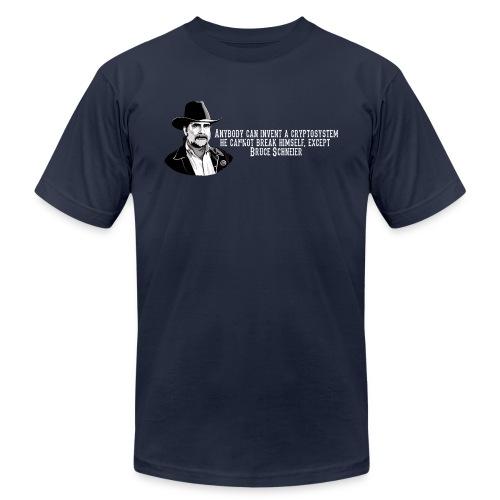 schneier13 cowboy white - Unisex Jersey T-Shirt by Bella + Canvas