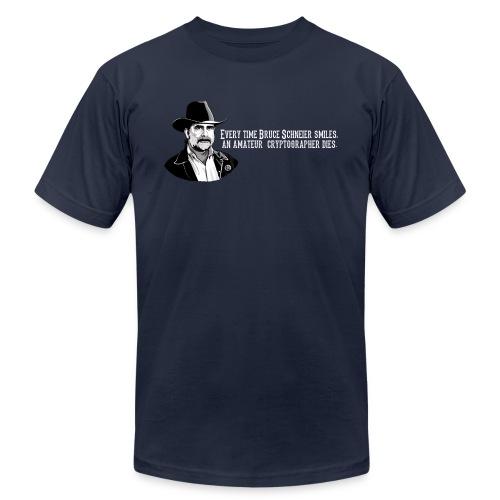 schneier24 cowboy white - Unisex Jersey T-Shirt by Bella + Canvas