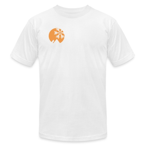 OpenSnow Logo Horizontal White - Unisex Jersey T-Shirt by Bella + Canvas