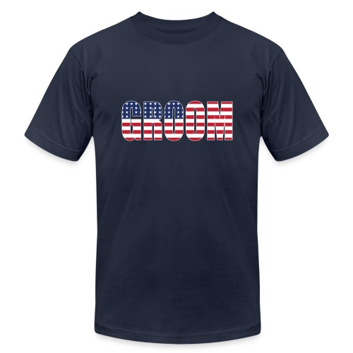 Groom US Flag - Unisex Jersey T-Shirt by Bella + Canvas