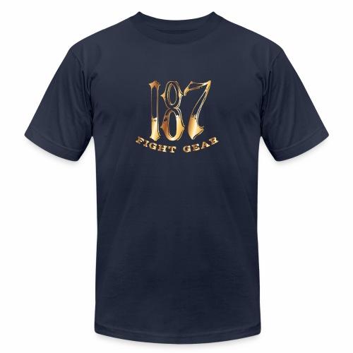 187 Fight Gear Gold Logo Street Wear - Unisex Jersey T-Shirt by Bella + Canvas