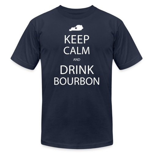 Keep Calm and Drink Bourbon - Unisex Jersey T-Shirt by Bella + Canvas