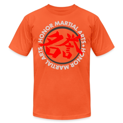 Honor Martial Arts Kanji Design Light Shirts - Unisex Jersey T-Shirt by Bella + Canvas