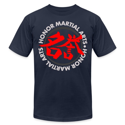 Honor Martial Arts Kanji Design Light Shirts - Unisex Jersey T-Shirt by Bella + Canvas