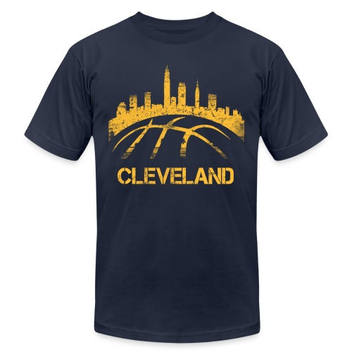 Cleveland Basketball Skyline - Unisex Jersey T-Shirt by Bella + Canvas