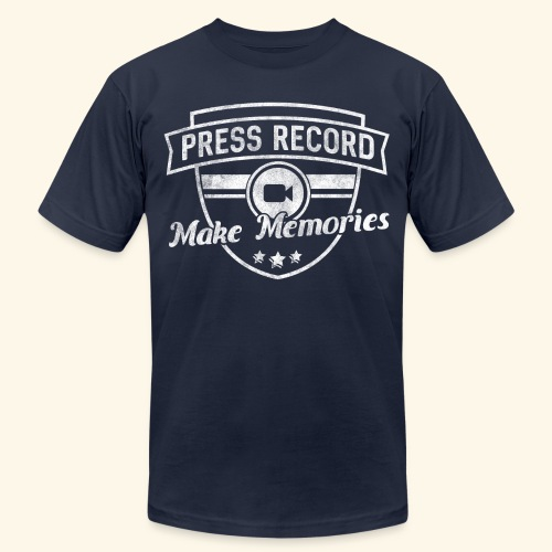 pressrecord_makememories2 - Unisex Jersey T-Shirt by Bella + Canvas