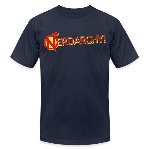 NerdarchyLogoShirtF - Unisex Jersey T-Shirt by Bella + Canvas