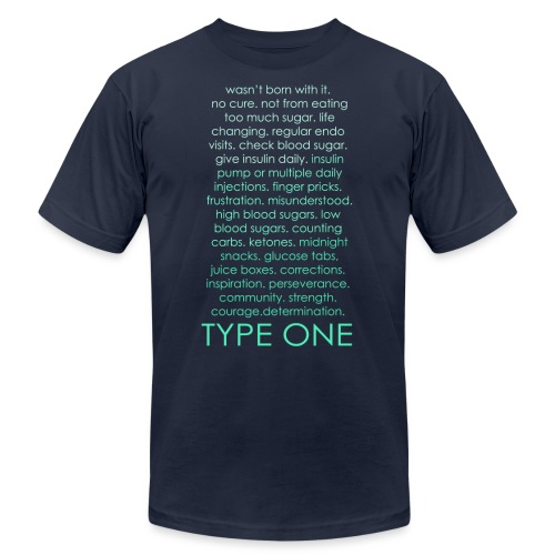 The Inspire Collection - Type One - Green - Unisex Jersey T-Shirt by Bella + Canvas