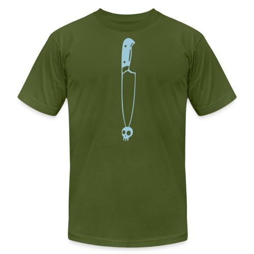 knife, skull, bones, headache - Men's Jersey T-Shirt