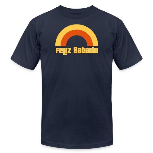 feliz sabado 2 color - Unisex Jersey T-Shirt by Bella + Canvas