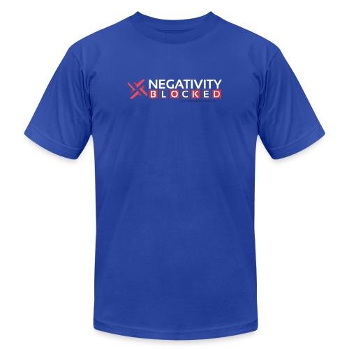 negativity blocked final file png - Unisex Jersey T-Shirt by Bella + Canvas