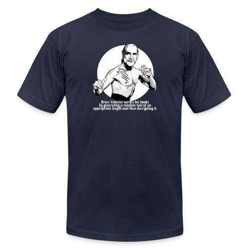 schneier21 martial white - Unisex Jersey T-Shirt by Bella + Canvas