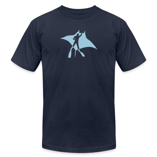 manta ray sting scuba diving diver dive fish ocean - Unisex Jersey T-Shirt by Bella + Canvas