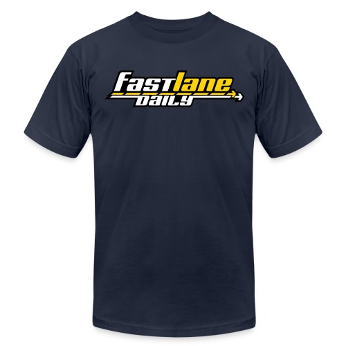Fast Lane Daily logo in 3 colors! - Men's Jersey T-Shirt