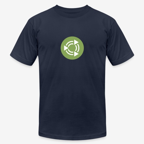 Ubuntu MATE Rondel Green Chest 15inch with 16cm lo - Unisex Jersey T-Shirt by Bella + Canvas