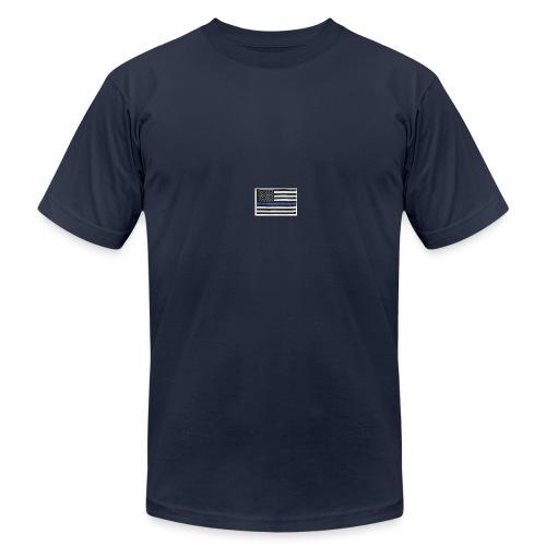 American flag logo - Men's Fine Jersey T-Shirt