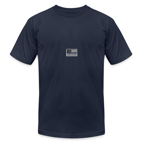 American flag logo - Men's  Jersey T-Shirt