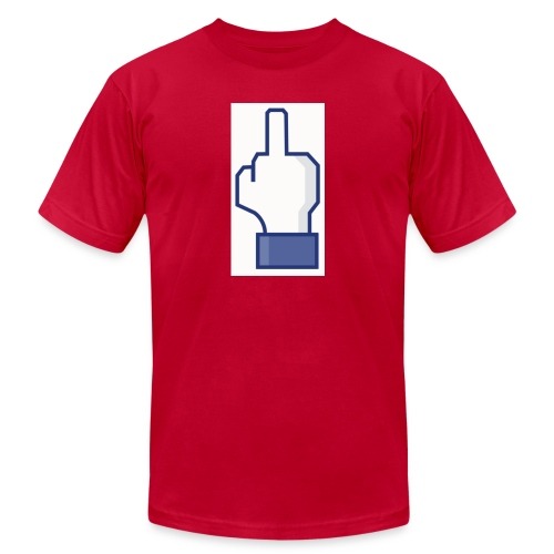 facebook middle finger di - Unisex Jersey T-Shirt by Bella + Canvas