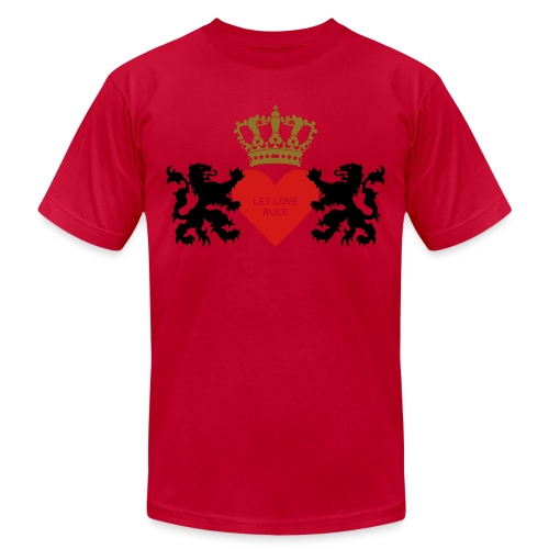 Let love rule - Unisex Jersey T-Shirt by Bella + Canvas