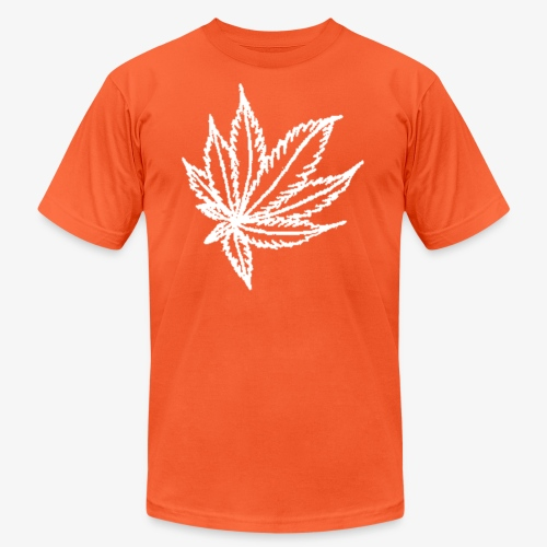 white leaf - Unisex Jersey T-Shirt by Bella + Canvas