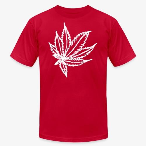 white leaf - Unisex Jersey T-Shirt by Bella + Canvas