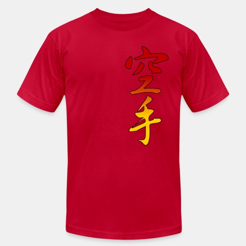 Karate Kanji Red Yellow Gradient - Men's  Jersey T-Shirt