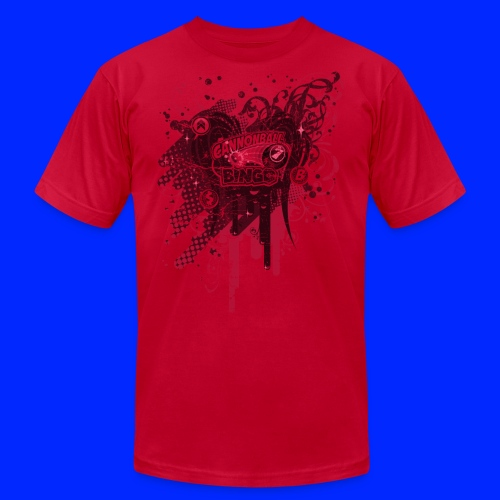 Vintage Cannonball Bingo Drip Red - Men's Jersey T-Shirt