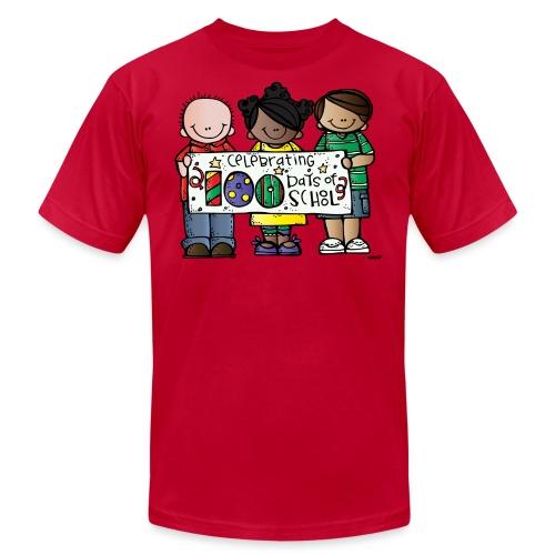100 days kids banner melonheadz colored png - Unisex Jersey T-Shirt by Bella + Canvas