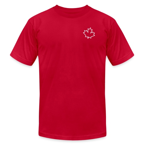 Maple Leaf Outline - Unisex Jersey T-Shirt by Bella + Canvas