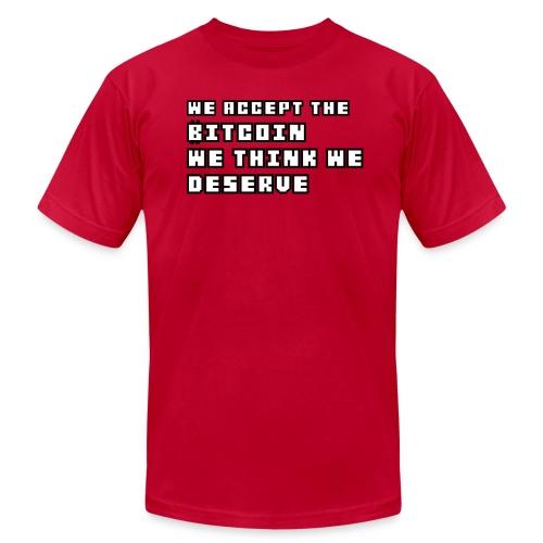 We Accept Bitcoin Tshirt - Men's  Jersey T-Shirt