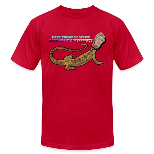 HILLARY THE LIZARD - Men's  Jersey T-Shirt