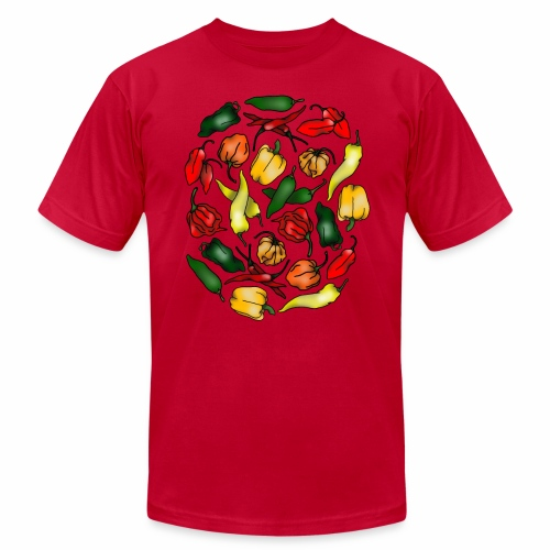 Chili Peppers - Unisex Jersey T-Shirt by Bella + Canvas